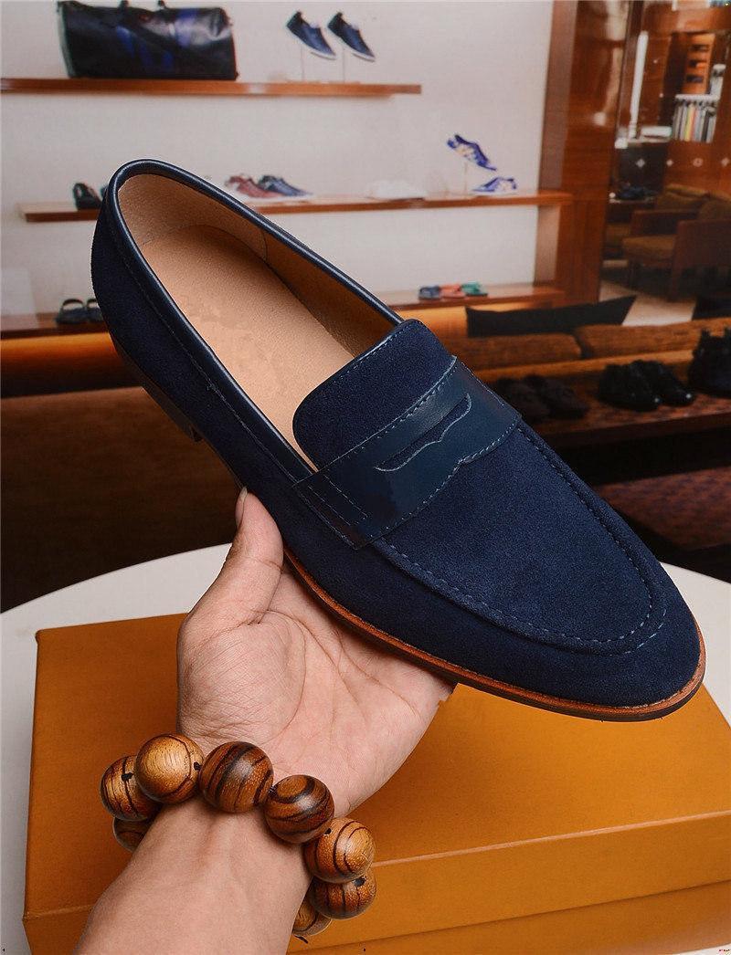 19FW uomo di lusso scarpe da uomo in vera pelle nera marrone marrone croccinale modello stampato slip-on uomini vestito scarpe moda uomo formale oxford scarpe yecq5