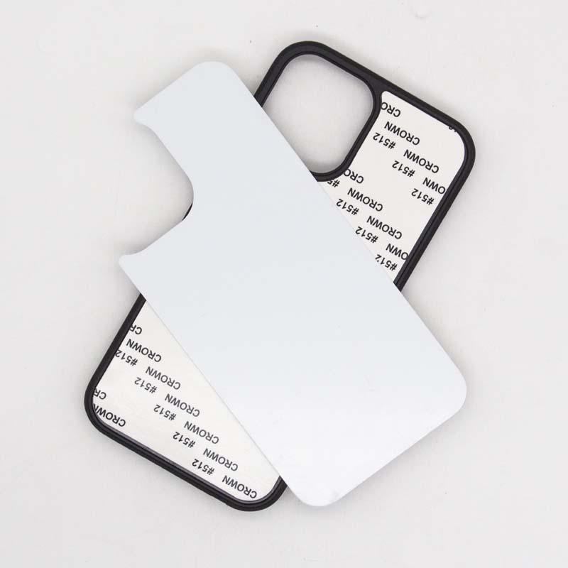 iPhone 11 / iPhone 12 Pro / Pro max (6.1 / mini5.4 / 6.7 inç) için boş Kılıf Süblimles¸me yazdır Silikon kenar TPU + PC Telefon Kılıfı Cep Telefonu Shell