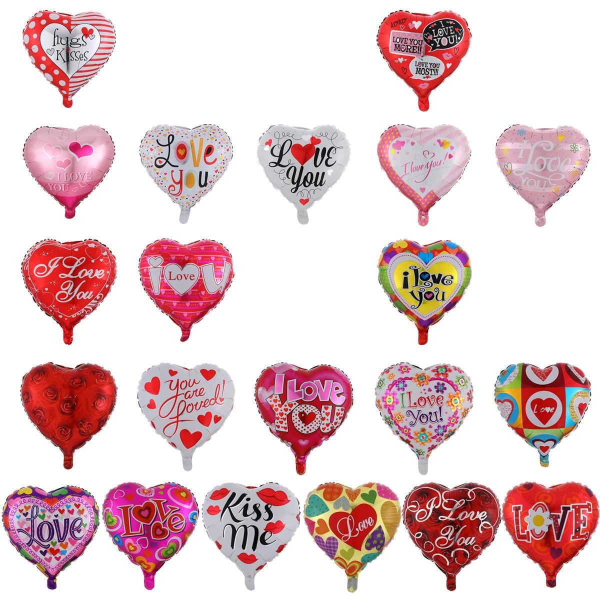 Party Dekoration Ballons Herz Ballon 18 Zoll Hochzeit Valentines Tage Aluminiumfolie