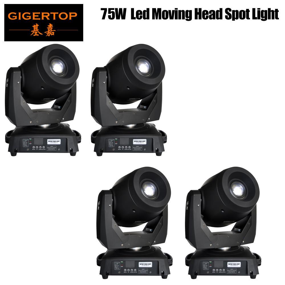 4XLot 75W LED Spot Moving Head Lichter DJ Controller für Stage Bar-Disco-Partei DJ Wedding Freies Verschiffen DMX 512 Funktion 90V-240V