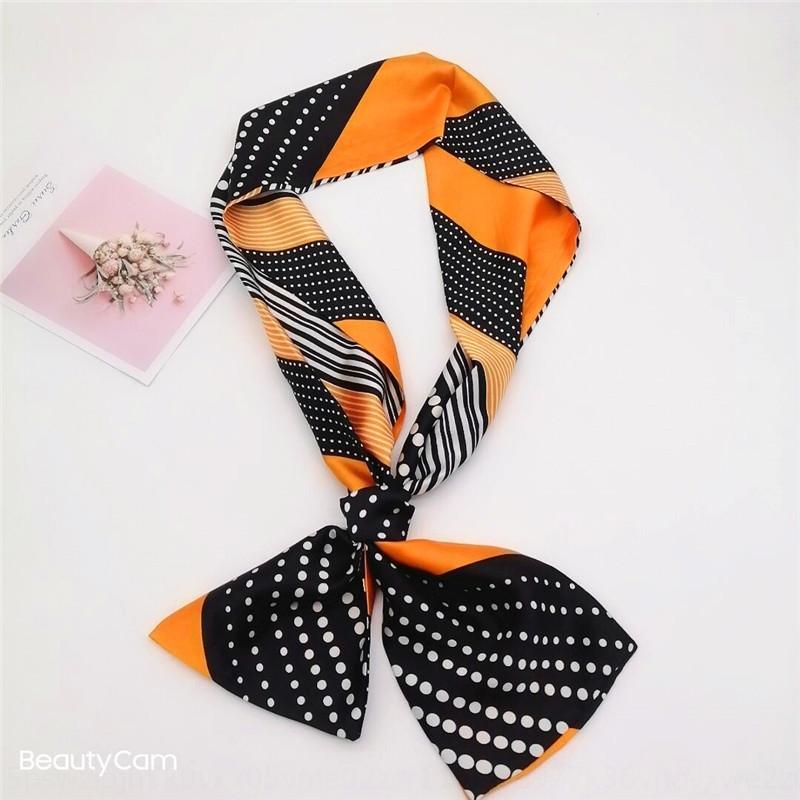LJ6V French Luxury Women Silk Bufanda de Seda Popular Diseño Bufanda Calidad Suave Seda Top de la Moda