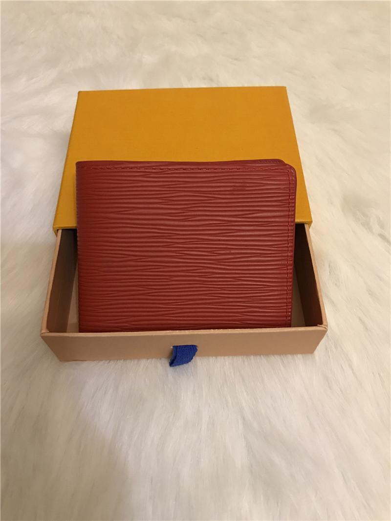 Hot New Style Folding Geldbörsen Höchste Qualität Mode Münze Geldbörse Geprägte Klassische Clutch Brieftasche MS Brieftaschen MS Gürtelbeutel mit Kasten