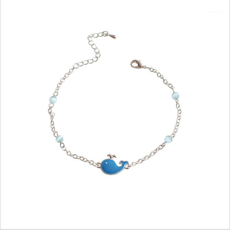 Bracelet Creative Belle eau Spray Baleine Sterling Sterling Bracelet Femme Charm Fashion Daily Bijoux Accessoires1