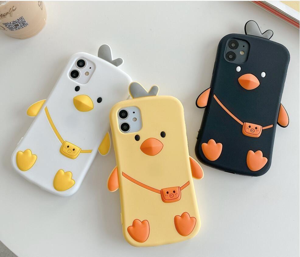 3D لطيف حالة الهاتف الكرتون لحالة iphone11 الموالية ماكس / 7 / 8plus السيليكون لحماية اي فون XS / XR