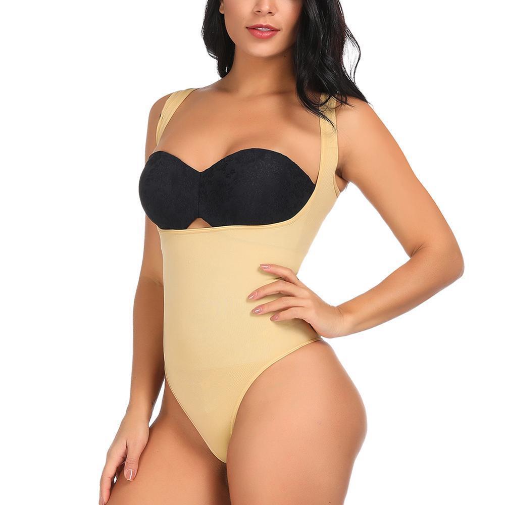 سلس عالية g- سلسلة الوركينات الجسم السيدات ثونغ الملابس الداخلية الخصر المدرب postpartum البطن ملابس داخلية مشد