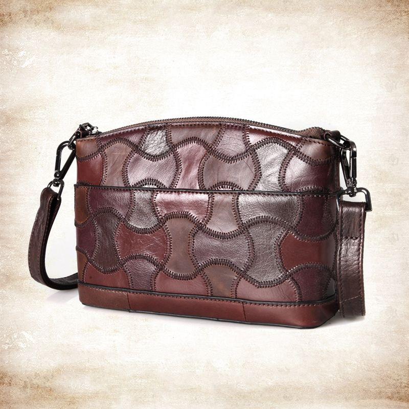 Cobbler Legend Frauen Echte Kuh Leder Handtaschen Kleine Dame Taschen 2020 Neue Designer Umhängetasche Vintage Crossbody / Meldungen Tasche