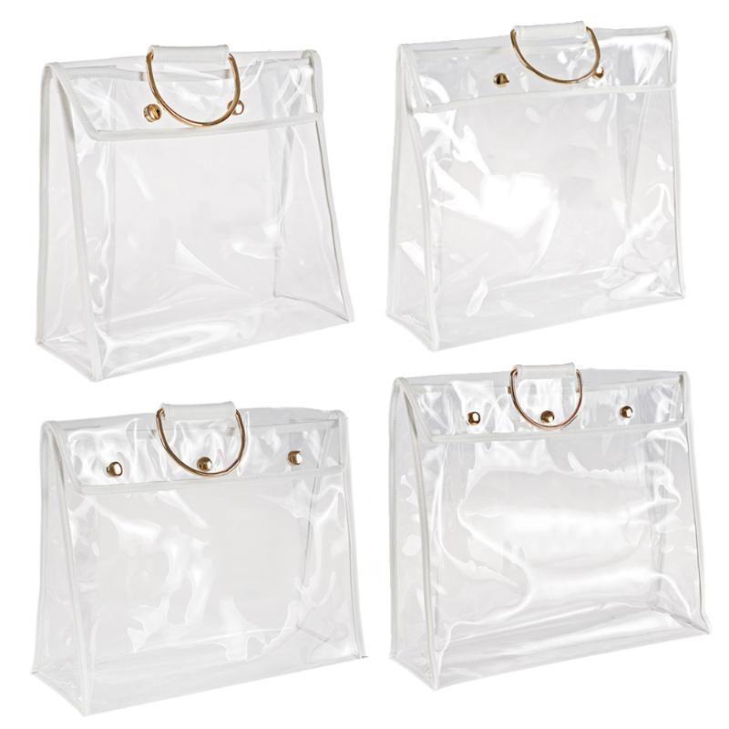 ПВХ анти роскошные сумки для пылезащитного защитника прозрачный сумочка для хранения сумка сумка сумка держатель VFHEI