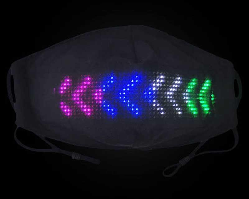 App Kontrol Unisex LED Rave Image Bluetooth Metin Animasyon Düzenlenebilir Işık Maskesi USB Partiler için Şarj Edilebilir X'mas Cadılar Bayramı