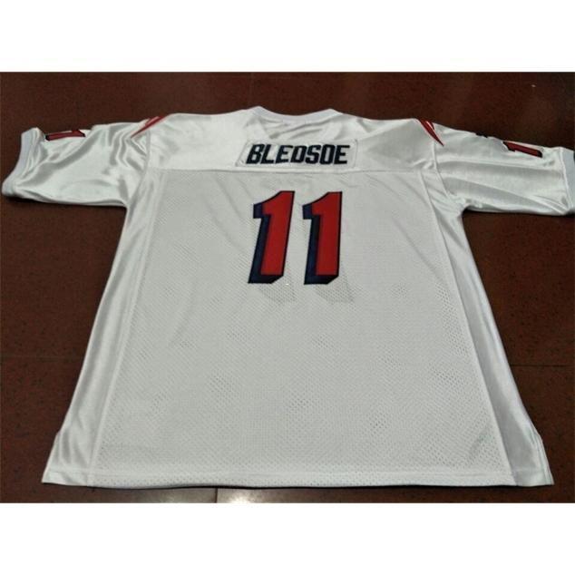 3740 # 11 TREW BLEDSOE TEAM Выдано 1990 Белый Колледж Джерси Размер S-XXXL Или пользовательское Имя или Номер Джерси