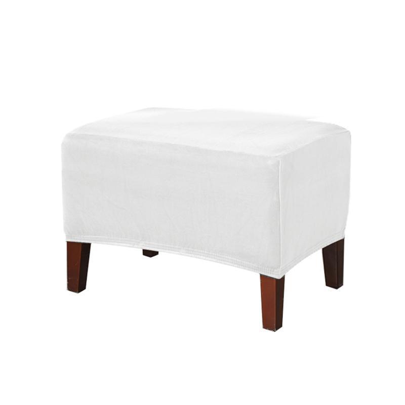 Сплошная гостиная по ног для ног для ног для ног Осмен Османская обложка мягкий эластичный прямоугольник растягивающуюся грязевой устойчивый мебельный протектор