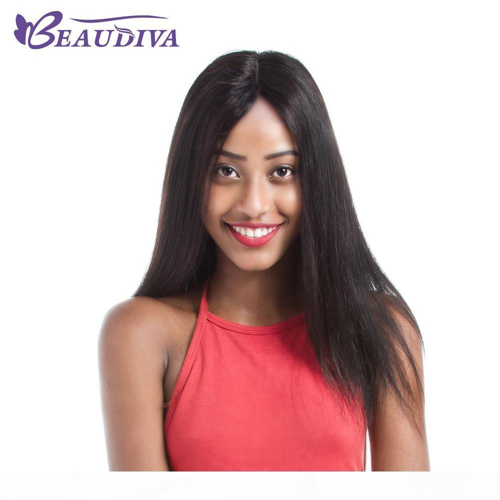 Lace Front Human Hair Wigs With Baby Hair Pre Plucked Brazilian Remy Hair Full End Straight Wig For Black Women