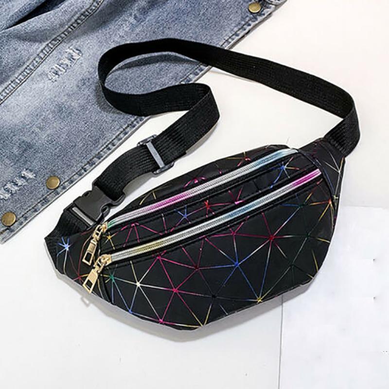 Sacchetto di cuoio unisex Zipper Daily Blocco Daily Shopping Shopping Impermeabile Chiusura in vita Cintura Torna Cintura PU Borsa Patchwork Piccolo UTNNP