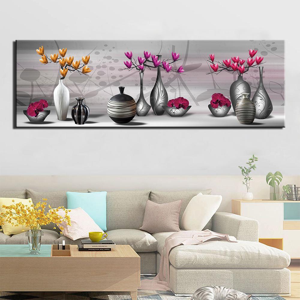 1 painel ainda vida imagem hd imprime cartaz para quarto decor decoração de lona pintura de parede vaso arte vaso flores artwork