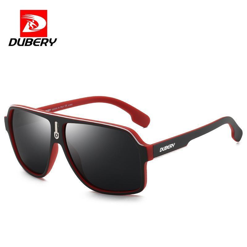 Sunglasses DUBERY Brand Custom Men Polarized UV400 Driving Fashion TAC Mirror PC Frame Ultralight Oversized