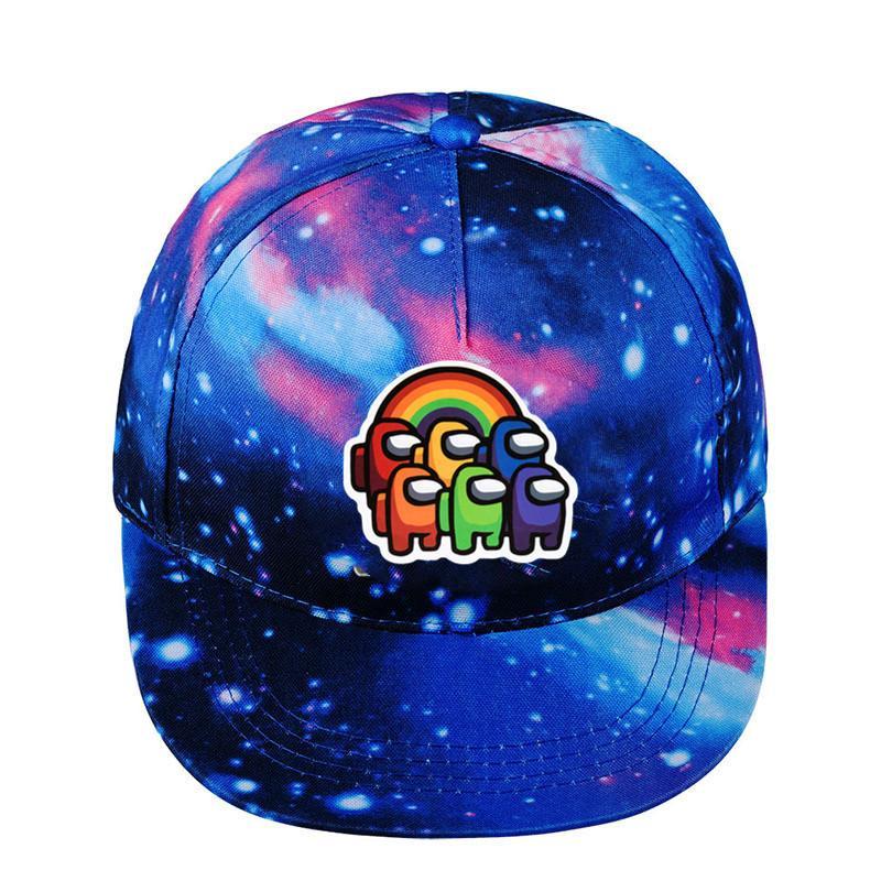 7 styles jeu chaud parmi nous chapeaux de baseball casquettes bleu étoile étoilée a culminé chapeaux chapeaux chapeaux hommes femmes hip hip hop snapback sport voyage visière caps e120808