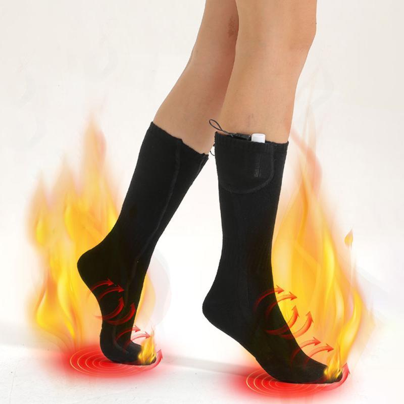 Chaussettes d'hiver Chaussettes Chaussettes chauffantes électriques Chaussettes rechargeables Hiver 3 Niveau Température Réglage chauffage portable