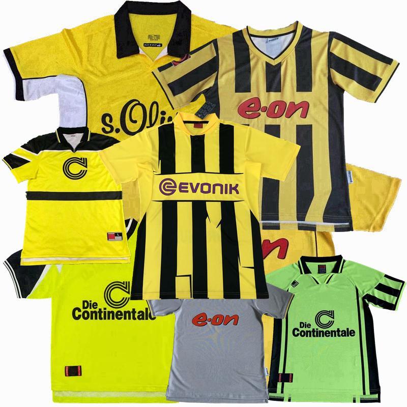 Retro Classic 1995 96 97 98 2000 01 02 03 2012 2013 Borussia Soccer Jerseys Rosicky Lewandowski Moller Dortmund Reus Camicia da calcio retrò