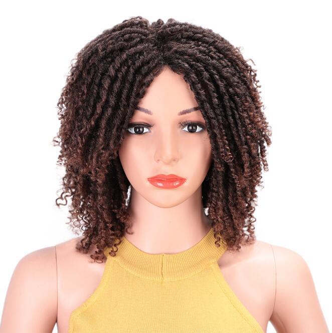Livraison Gratuite MS MS Fabricant Spot en Europe et le crochet Perruques de cheveux Bref paragraphe Petit volume Fibre chimique