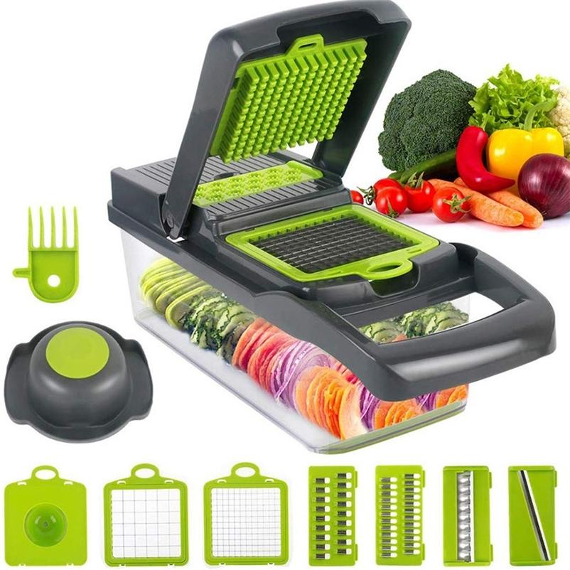 Kitchen Accessories Gadgets Tools Multifunctional Vegetable Slicers Cutter 8 in 1 Grater Shredders Kitchen Supplies 201201