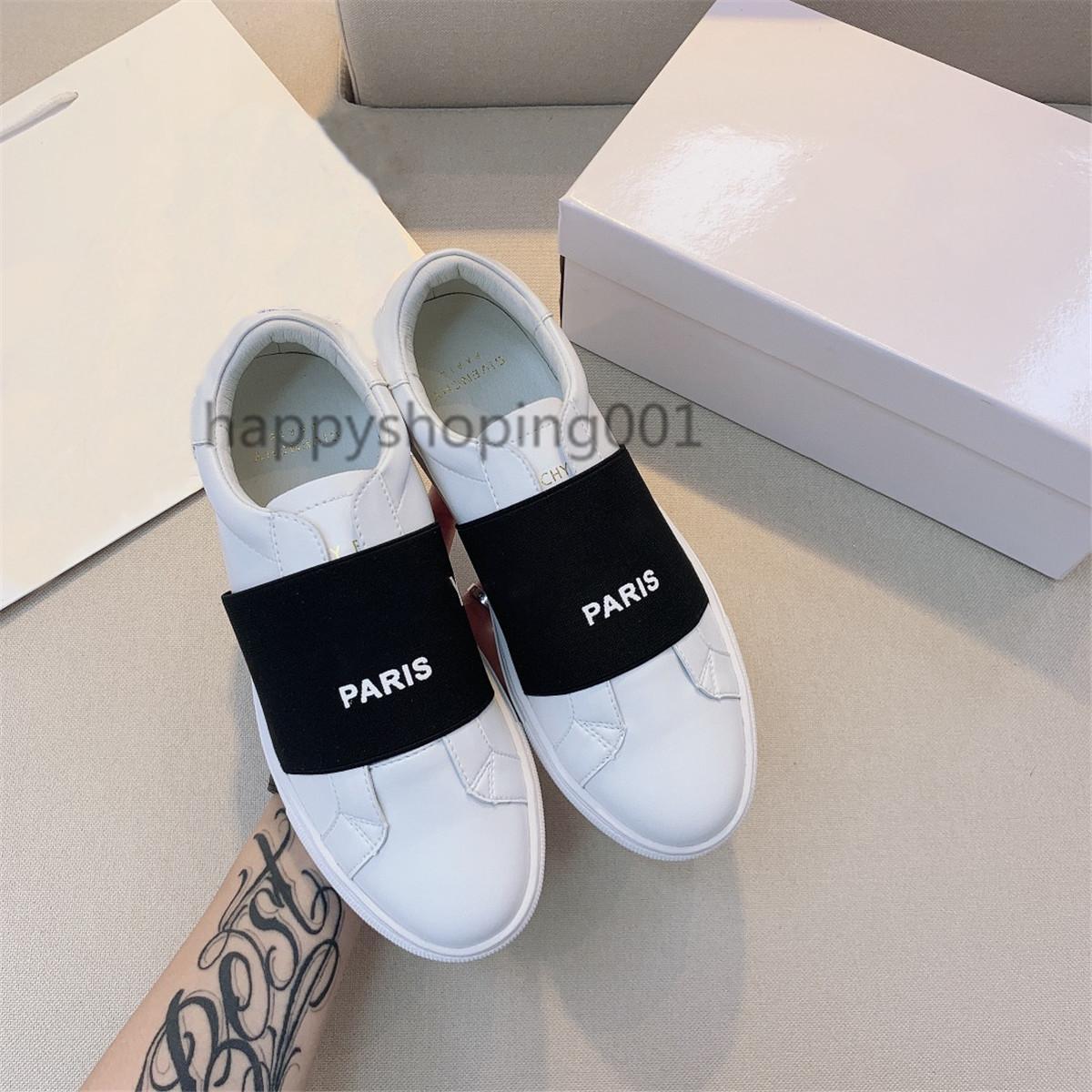 Popüler Düşük Üst Dantel-up Kadınlar Sneakers GVC Espadrilles Ayakkabı Fransa Dantel-up Yeni Paris Ayakkabı Siyah Beyaz Loafer'lar Boyutu 34-44