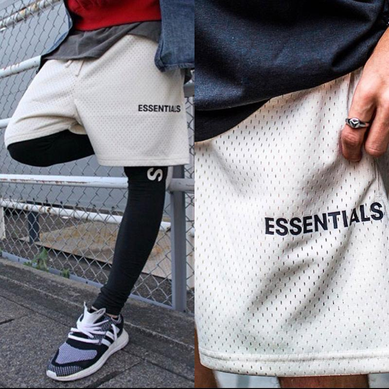 2020 Marca de Moda Essencial Malha Compresso Streetwear Hip Hop Basquete Esportes Fitness Shorts Masculinos