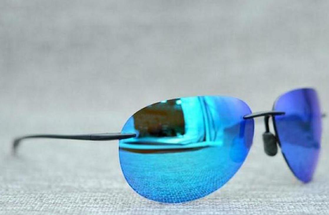 New Men Women 421 Sunglasses High Quality Polarized Rimless Lens Men Women Driving Very good Sunglass With Case