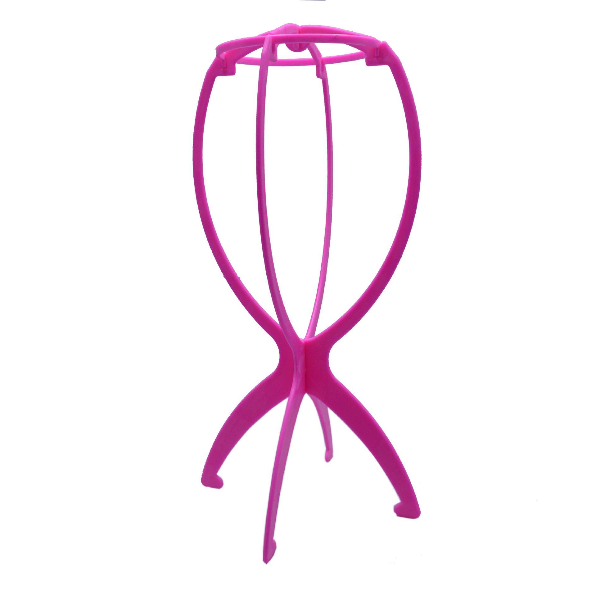 4 Renkler Ajustable Peruk Standları Plastik Şapka Ekran Peruk Baş Tutucular 18x36 cm Manken Başkanı Standı Taşınabilir Katlanır Peruk Stand 50 ADET DHL