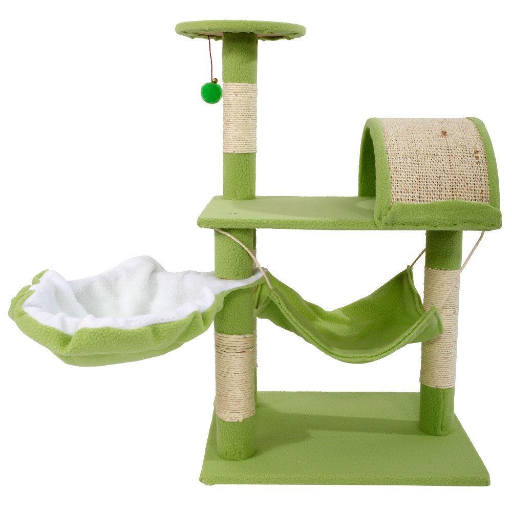32 дюйма Cat Tower Tree Condo Sisal Transer Мебель для домашних животных Вослитель Держатель Баранина Стенд Гамакового корабля из США