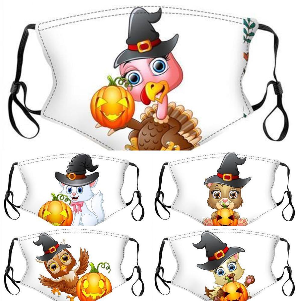 Kabak DHL Maskeleri Nakliye Çocuk Karikatür Cadılar Bayramı Koruyucu Parti Yüz Kapak CHM1A1 için Kullanımlık Yıkanabilir Yüz Maskesi
