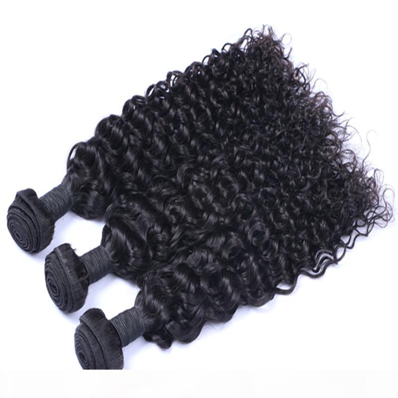 Peut être teint des cheveux brésiliens vierges humains extensions de cheveux péruviens malaisiens indiens jerry bouclée