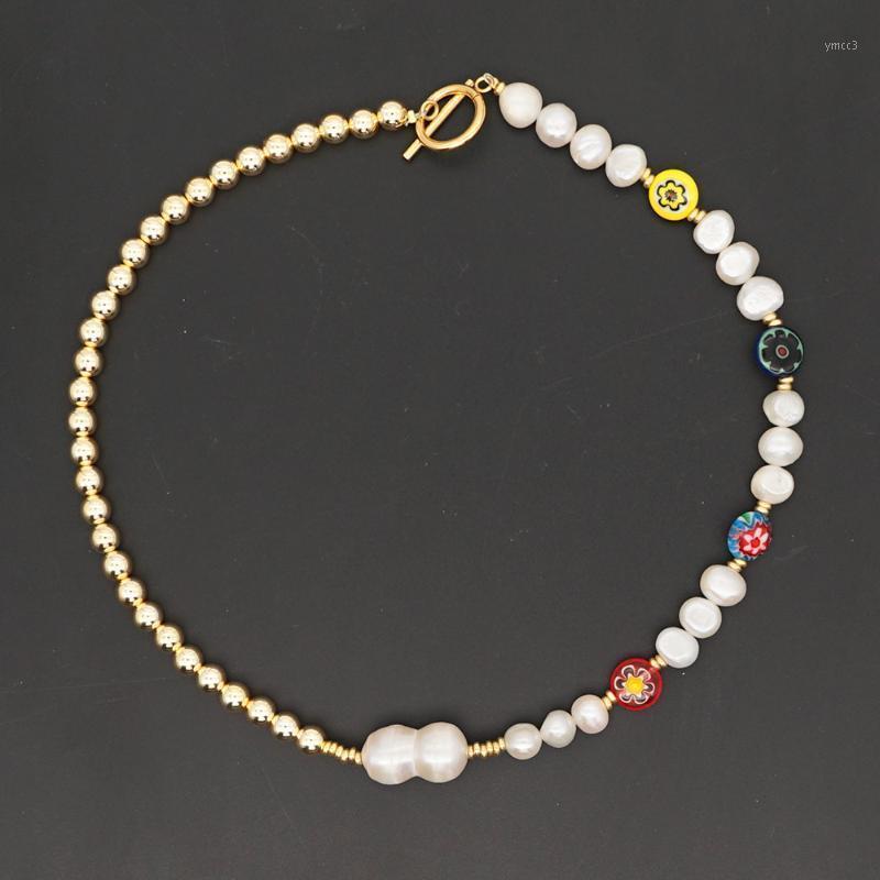 Go2Boho Süßwasser Perle Halskette 2020 Trend Weibliche Choker Schmuck Böhmischen Schmuck Goldene Perlen Halsketten OT Buckle1