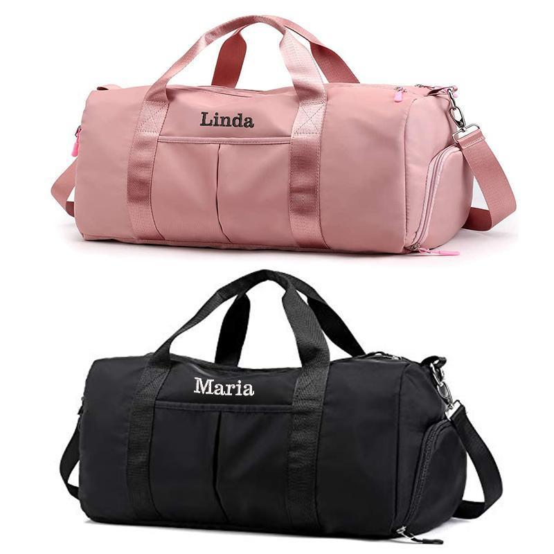 Für benutzerdefinierte Sportarten bestickte Duffel-Rucksack-Reisetasche der nassen trockenen Taschen und Namensfächer mit Schuh Fitness Bag EGBFP
