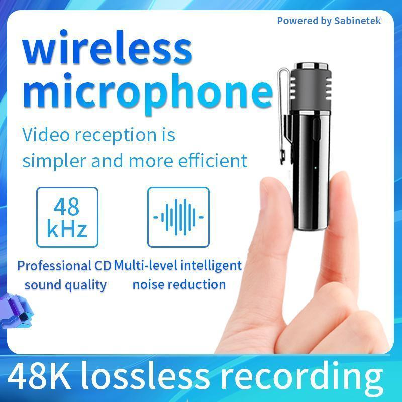 SANS Wireless Lavalier Microphone Clip-On Lavalier Mini audio Collier de 3,5 mm Condenseur Condel Condel Mic pour l'enregistrement Caméras DSLR Téléphone1