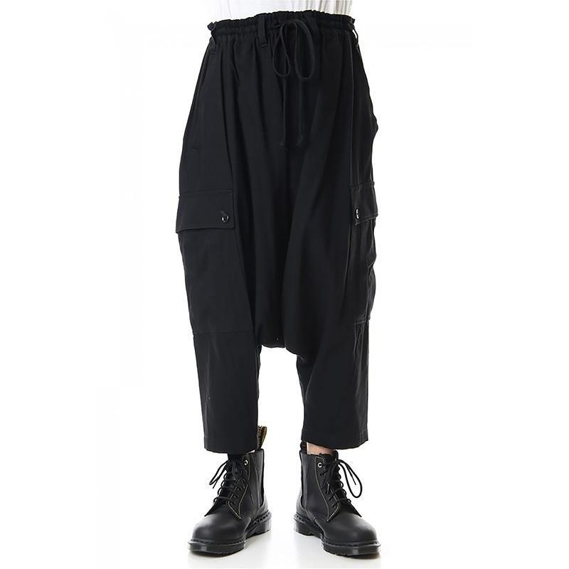 Pantaloni da uomo 2021 Abbigliamento da donna Abbigliamento da donna GD Parrucchiere Stilista Allentato Multi Pocket Low Crutch Harem Plus Size Costumi 27-46