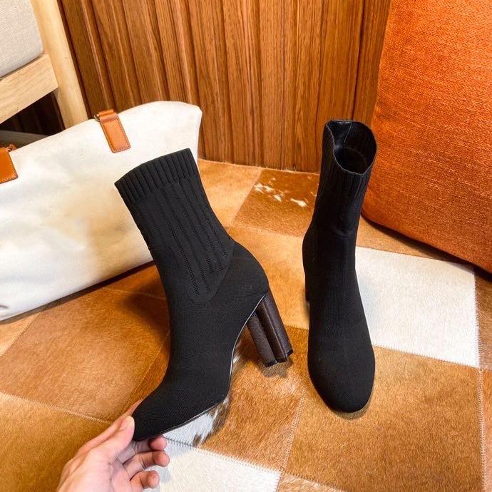 Kadınlar siluet ayak bileği boot martin çizmeler kış streç kumaş bootie uyarın botas yüksek topuk baskı çiçek topuklu bayanlar rahat ayakkabılar kutusu ile