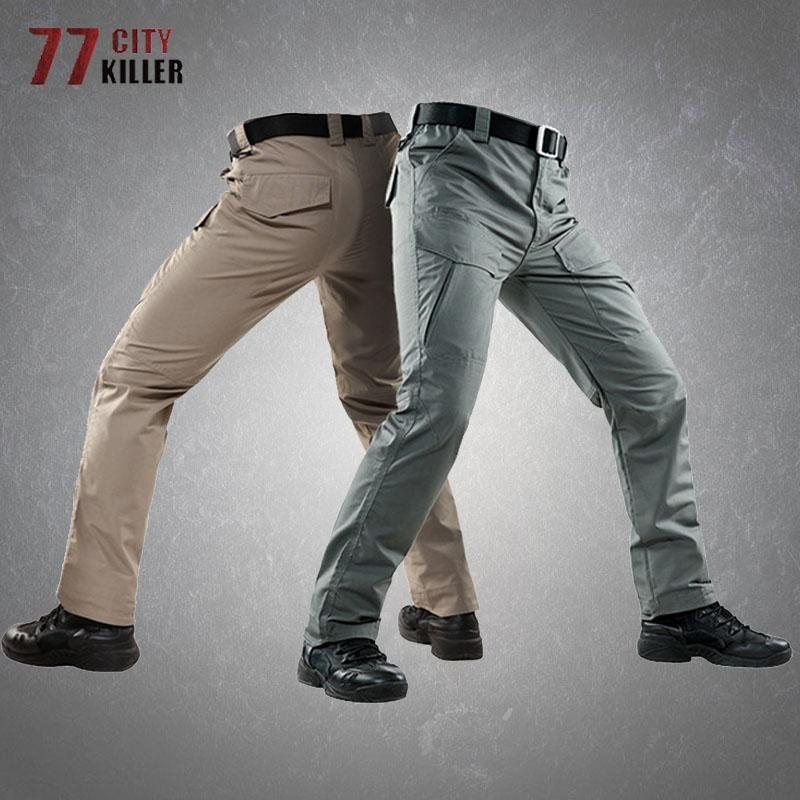Мужские брюки камуфляжные грузовые мужчины дышащие износостойкие тактические брюки мужские пешие подъемные мульти-карманы мужские