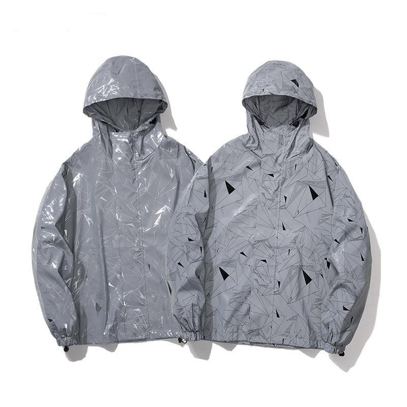 Мужские куртки Новая мода свободная партия спортивное пальто HIP HOP ROILICLE NOCTILUCENT с капюшоном куртки мужская улица