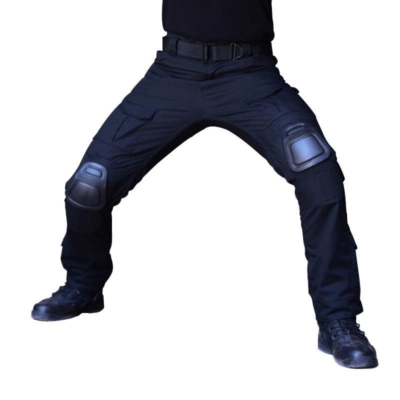 Camuflaje Ropa táctica Pantalones militares con rodilleras Hombres Tactical Tactical Pantalones de carga Soldado EE. UU. Ejército Pantalones Paintball Airsoft 201109