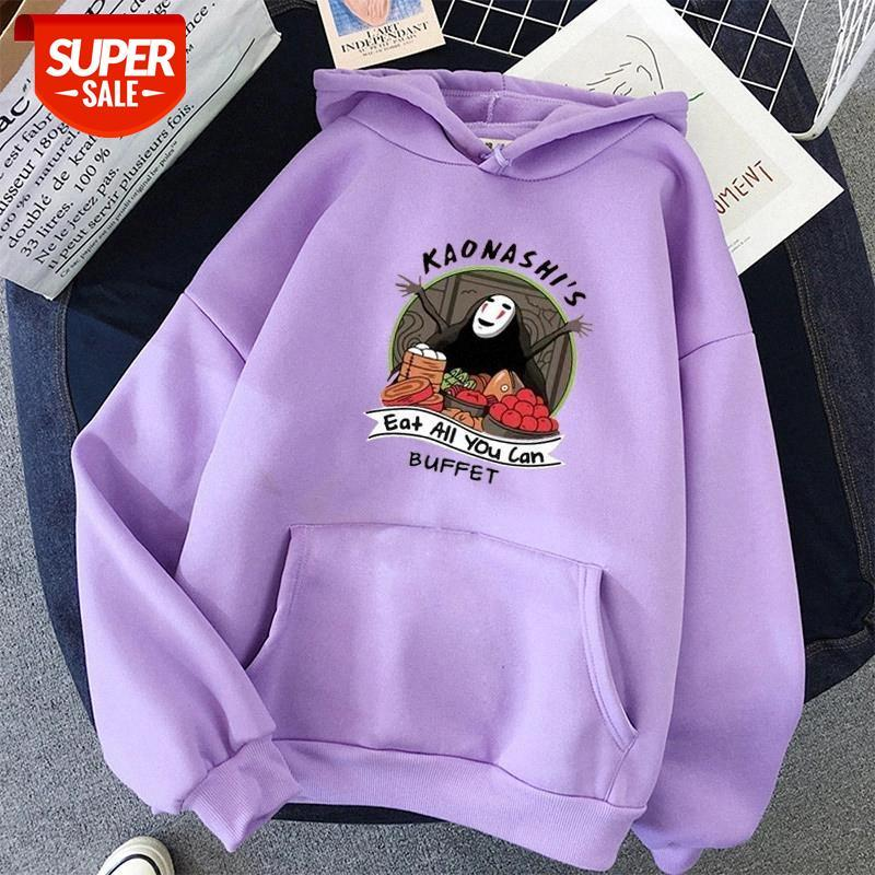 Print Anime oversized women Sweatshirt Kawaii Hoodies for Women's tops Hoody Full Sleeve Pullovers harajuku streetwear clothes #Yb98