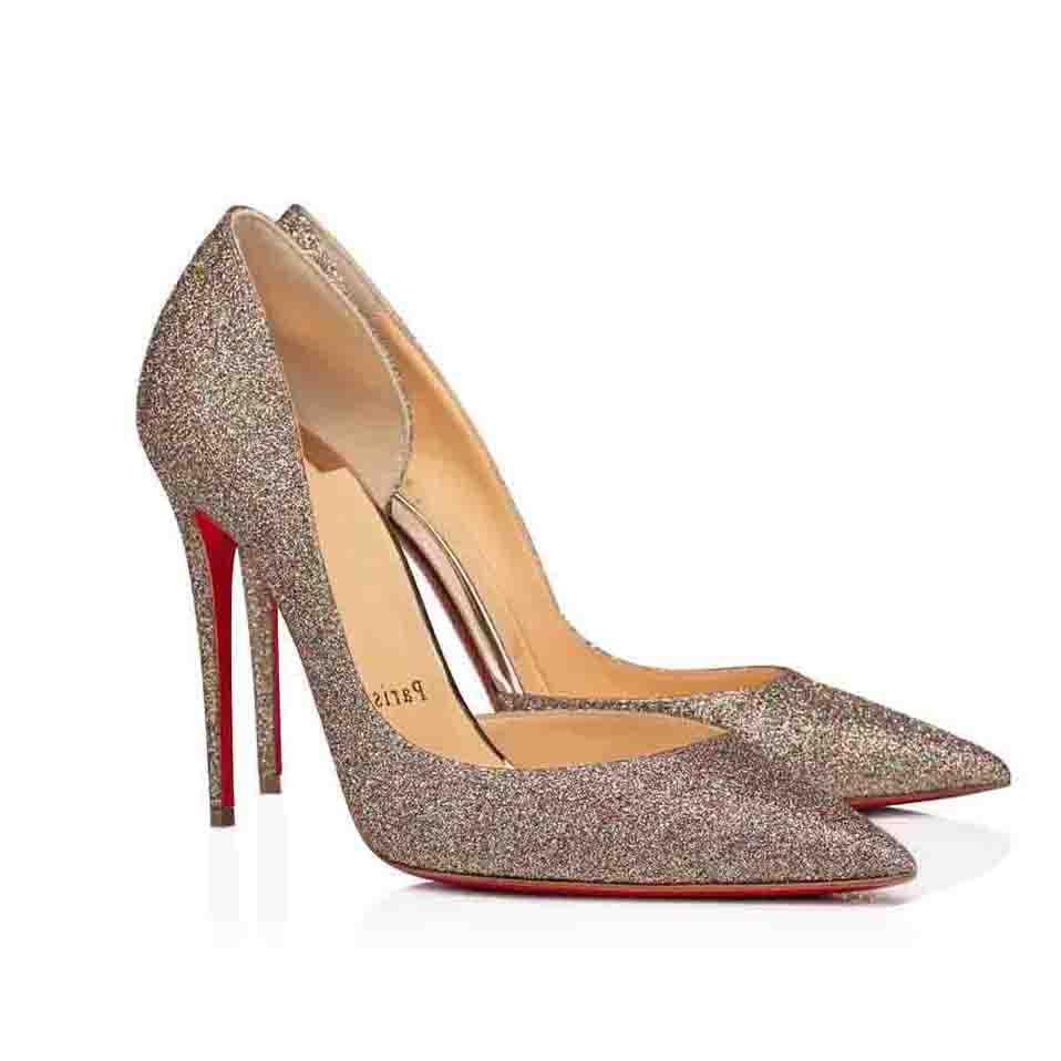 """이탈리아 Luxurys 여성 발 뒤꿈치 신발 빨간색 하단 펌프 """"Iriza""""신발, 숙녀 붉은 밑창 하이힐 파티 드레스 블랙 누드 특허 가죽 반짝이"""