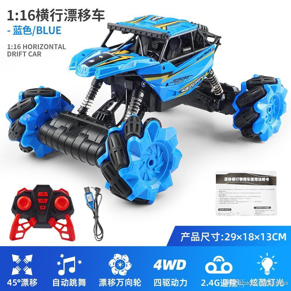 Véhicule 360 Garçons avec jouets Voitures Rotation électrique Cool Enfants Lumière d'escalade à quatre roues Modèle 2.4gr / C Drafte hors route Donne-cadeau DVTD
