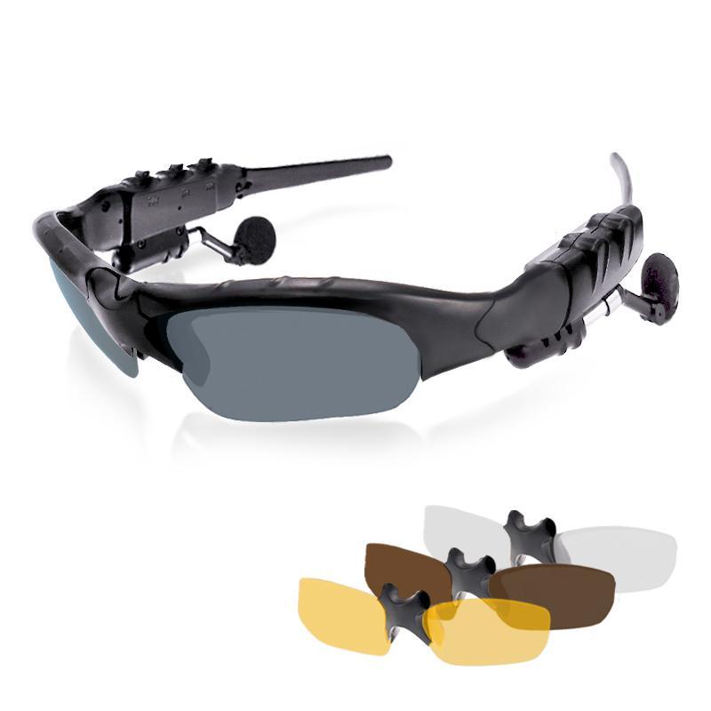 Sport Stereo Wireless Bluetooth 4.1 Cuffie Telefono Driving Occhiali da sole Biciclette Bicy da equitazione con vivavoce Risposta chiamata MP3