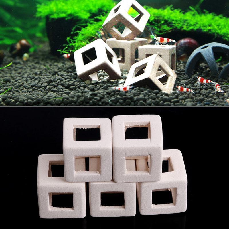 Decorações 1/5 pc Camarão Pequeno Peixe Cerâmica Casa Abrigo Caverna Criação para aquário Fish-tank HBB