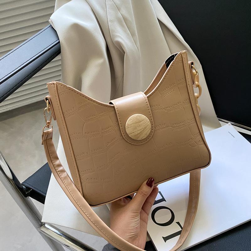 Moda 2021 Otoño Nuevo Messenger Bag Cadena de las mujeres Un patrón de cocodrilo de un hombro
