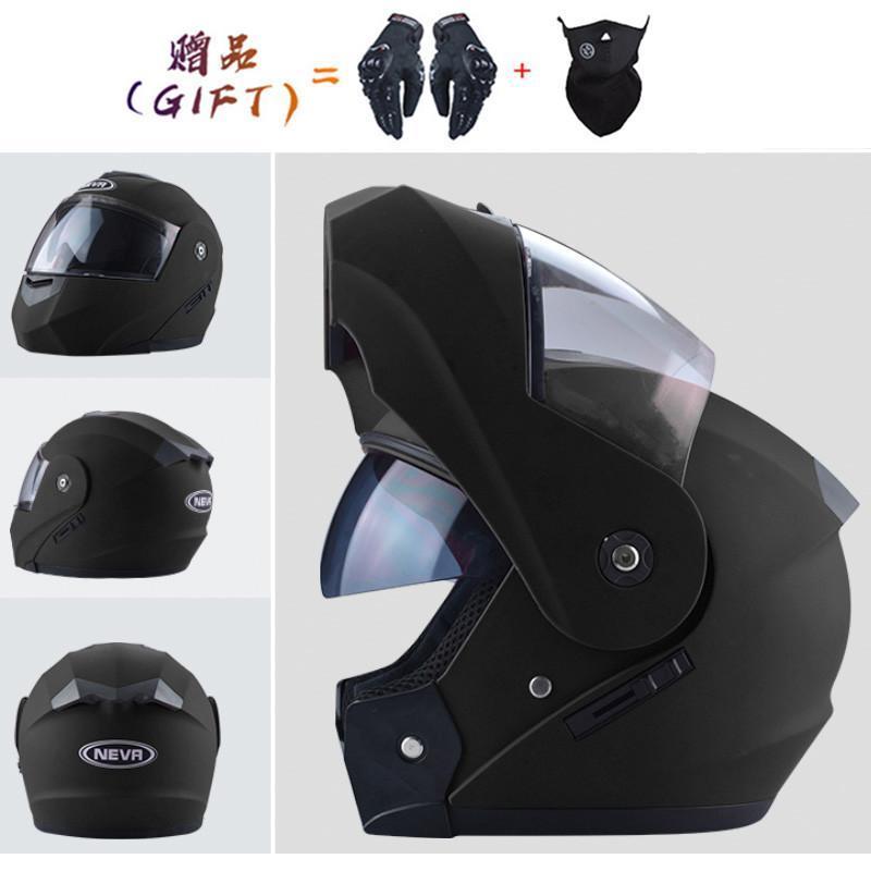 Dos regalos Casco Moto Casco Motocicleta Cara Completa Cara y Scooter Casco Modular Modular Cara completa Downhill Motor Casco Integral Moto
