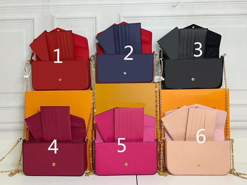 Sugao rosa 3 pcs e bolsa de bolsa de ombro de desânimo bolsa de carteira de carteira de embreagem CRANCHFOY CHALL Bolsas de Couro genuíno com caixa lettter flor impressão sxtr