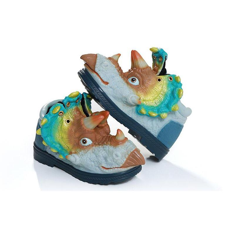 Hot Creative 3d dinosaur shoes kids shoes baby girls boys Medium children&#39s sports Keep warm Soft comfortable size 25-30 Style 3