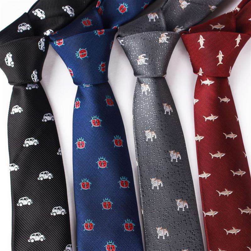 DN3UT мужская животная мода собака утка божья коровка детский костюм мужская галстука для животных мода собака утка жаккардовый жаккардовый божья коровка детский галстук