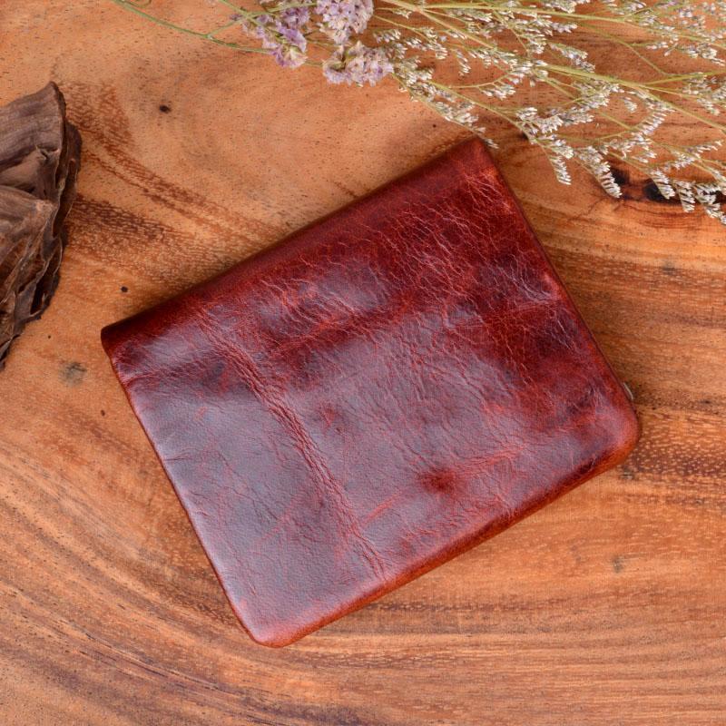 HBP Aetoo Obras hechas a mano de Wallet de arte Retro Monedero Monedero Color Color 100% Monedero de cuero genuino Hombres Bolso El mejor regalo