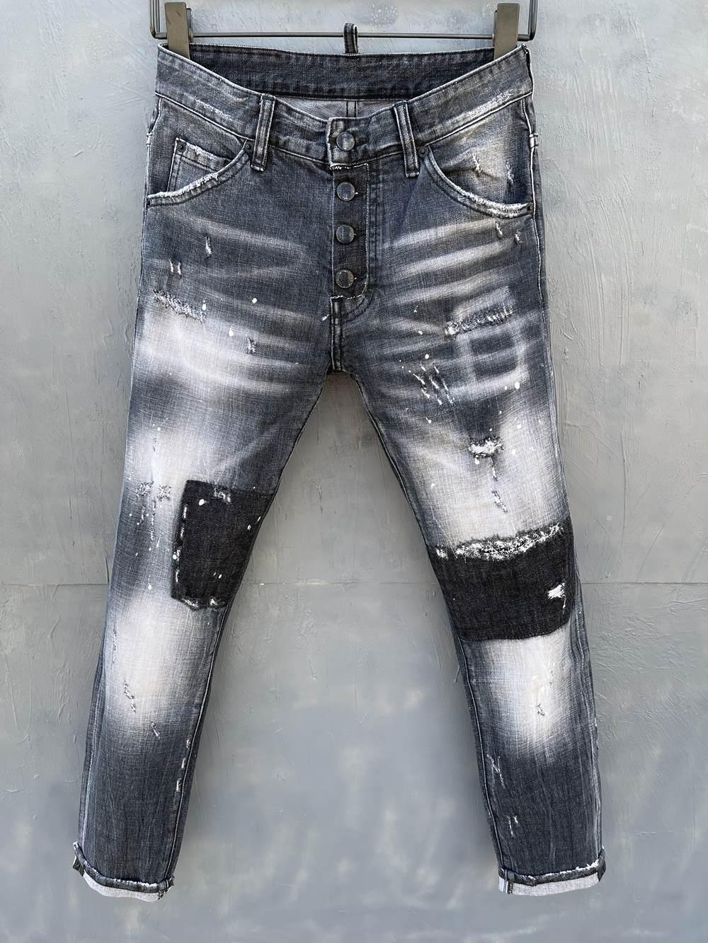 2021 Neue Marken-Europäische und amerikanische Mode-Männer Lässige Jeans, hochwertiges Waschen, reines Handschleifen, Qualitätsoptimierung LT055